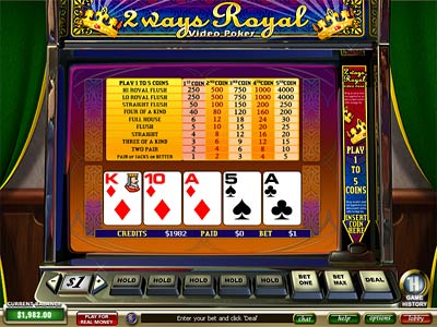 Video Poker 2 Ways Royal